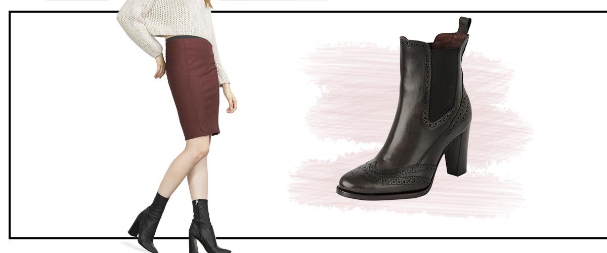 24237afe LA falda de tubo puede venir en diferentes colores, desde colores pastel a  llamativos como amarillos o naranjas. Acompáñala con unos botines tipo  plunge ...