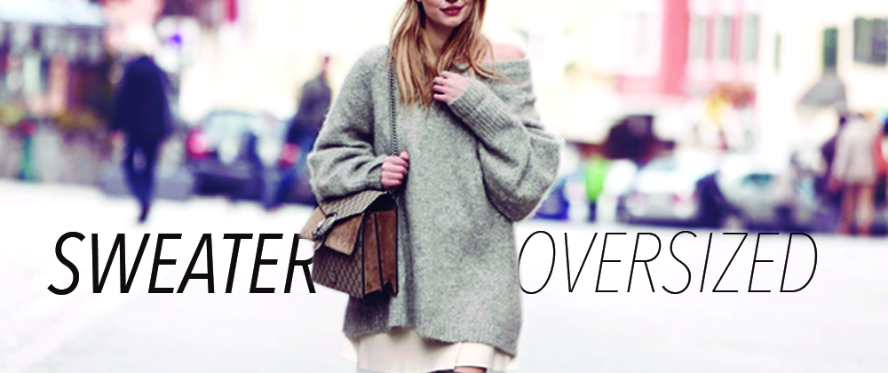 How to use an oversized sweater CORRECTLY