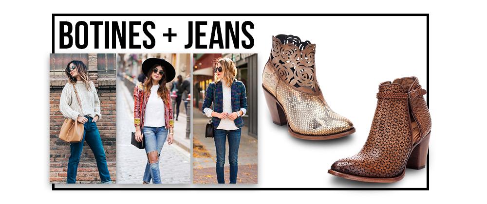 La forma más actual de usar jeans y botines