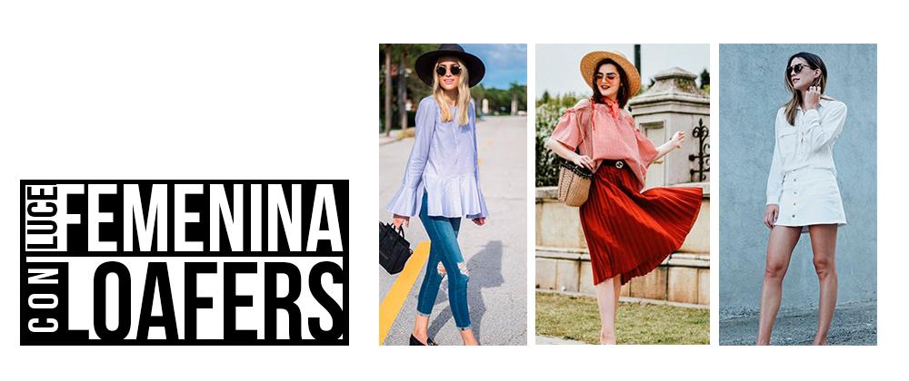 Tres maneras muy femeninas de usar loafers