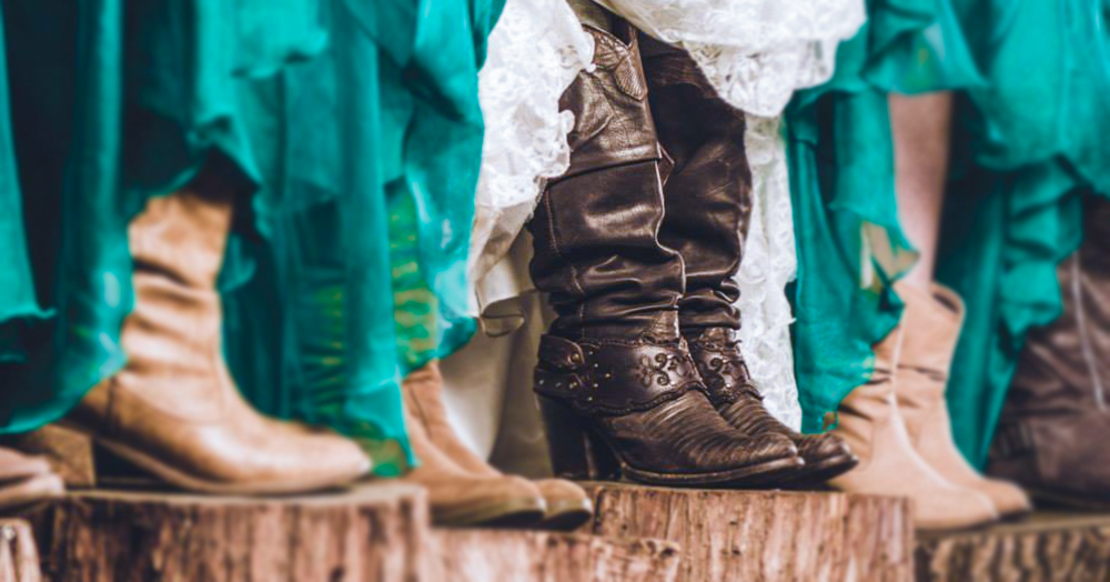 how to get married wearing your Cuadra boots