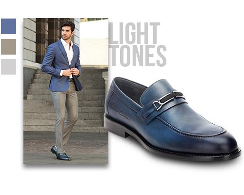 Light colors: light gray, indigo blue.