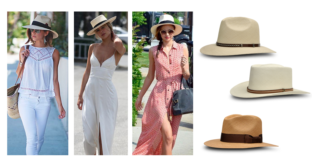 How to wear a straw hat