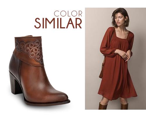 Combina Tus Botines Con Un Vestido Naranja Blog Cuadra
