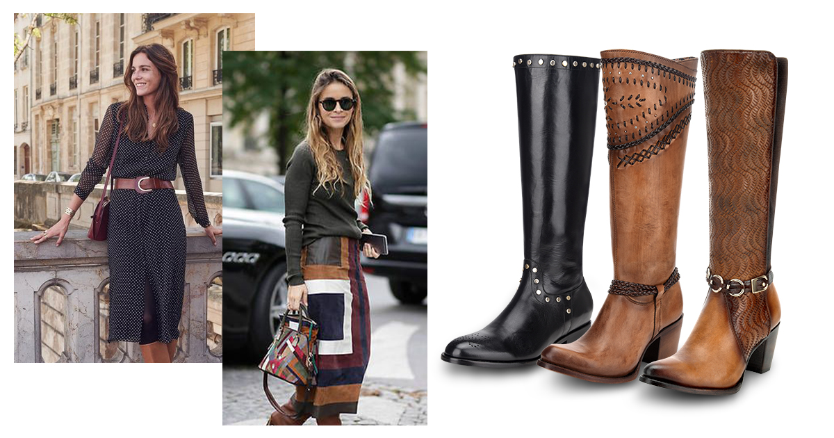 looks con botas largas