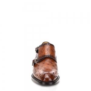 Calzado Doble Monkstrap De Piel Cuadra