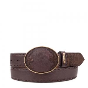 86f9679ea314f Cinturón tradicional de piel exótica